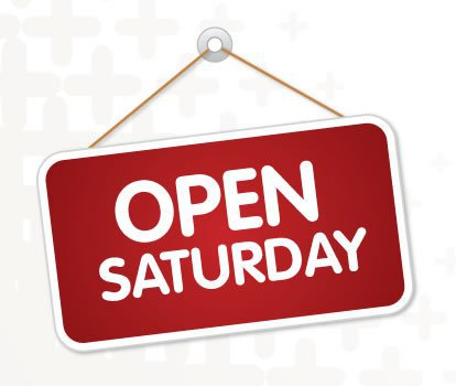 New opening hours on Saturday!